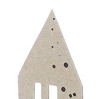 Tischaufsteller X-Mas Silhouette Graupappe, silberfarben bedruckt