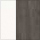 Aluminium weiß/HPL, Dekor Nitro, dunkelgrau