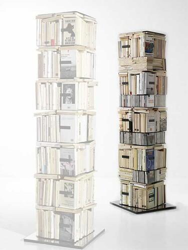 Bibliothèque-building CD/livres Ptolomeo X4