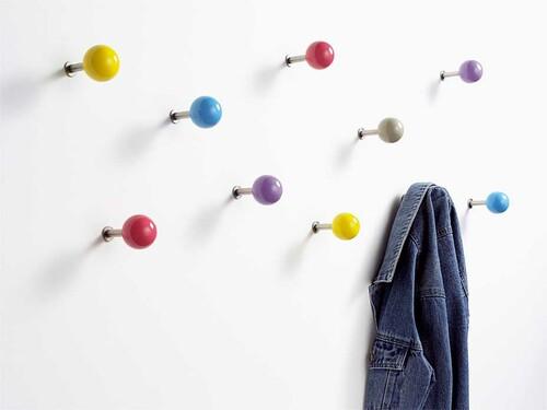 Crochets muraux Dots - lot de 5 pièces