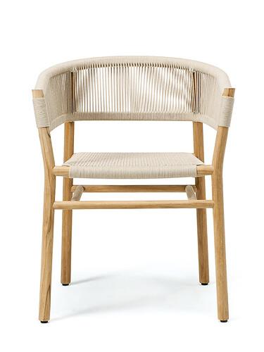 Chaise à accoudoirs Kilt Chaise à accoudoirs   teck, nature/couleur sable