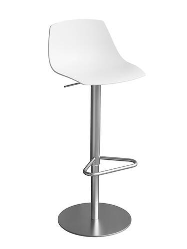 Tabouret de bar Miunn assise : contreplaqué | blanc