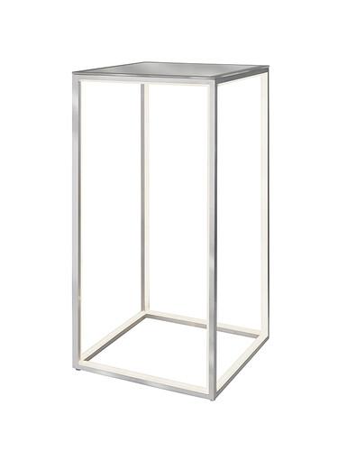 Table lumineuse Delux H 60 x L 30 x P 30 cm | couleur argent