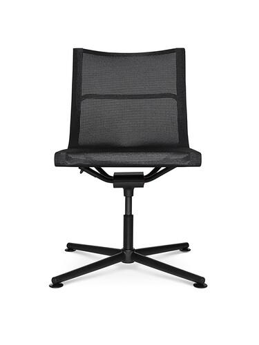 Chaise de bureau pour visiteur D1 Office sans accoudoirs | noir