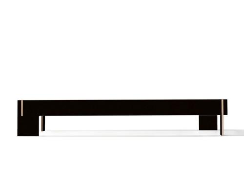 Cadre de lit Loir sans tête de lit | surface de couchage : 140 x 200 cm | noir