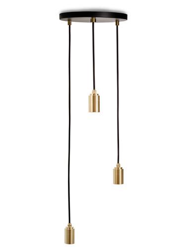 Suspension Brass Triple Pendant Triple Pendant | laiton