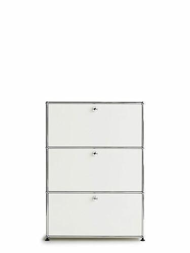 Highboard USM 3 portes abattantes   blanc pur