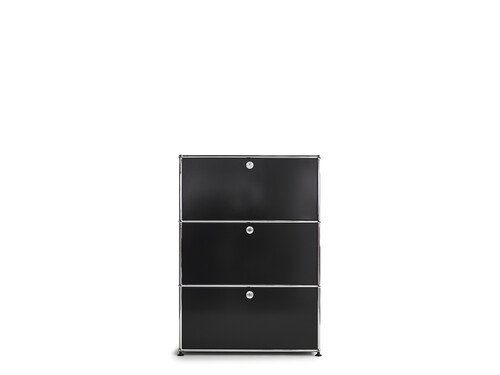 Highboard USM largeur 1 casier, 3 portes abattantes | noir graphite
