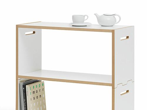 Système d'étagères modulaires Hochstapler module de base | blanc