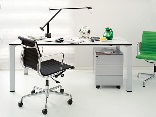 Table de travail Icon 160 x 90 cm   blanc cassé