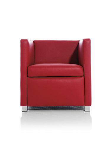 Fauteuil ID ID 20 : 67 x 66 x 68 cm | cuir nappa, rouge