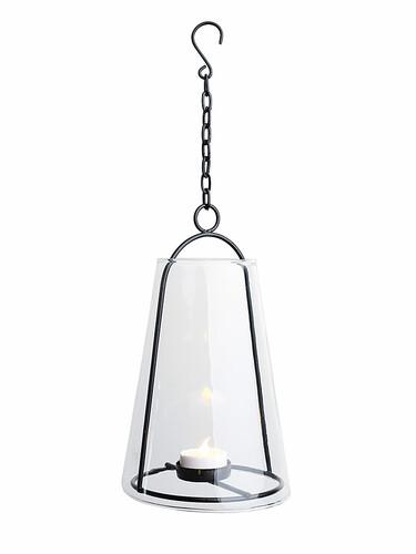 Lanterne à bougie chauffe-plat LED Albert