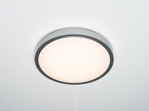 Plafonnier LED Diss H 9,5 cm, Ø 35 cm | argenté