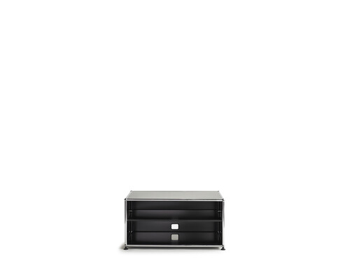 Lowboard USM largeur 1 casier, ouvert | noir graphite