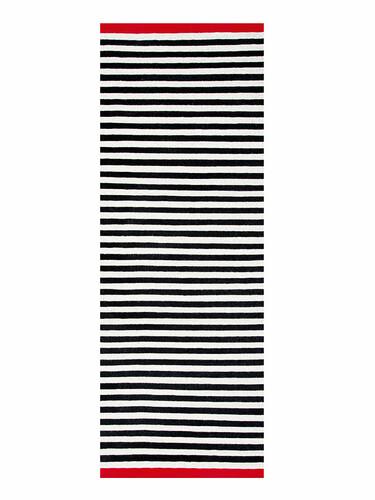 Tapis/tapis de couloir Rosemary 90 x 250 cm | noir/beige
