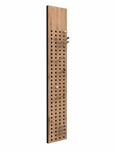 Porte-manteau mural Scoreboard vertical | bois de bambou