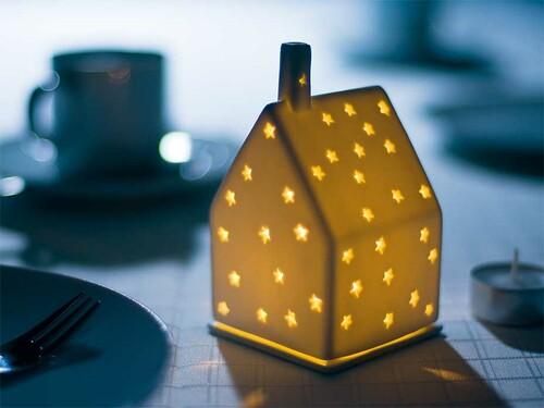 Lichthaus Sterne | Porzellan, unglasiert
