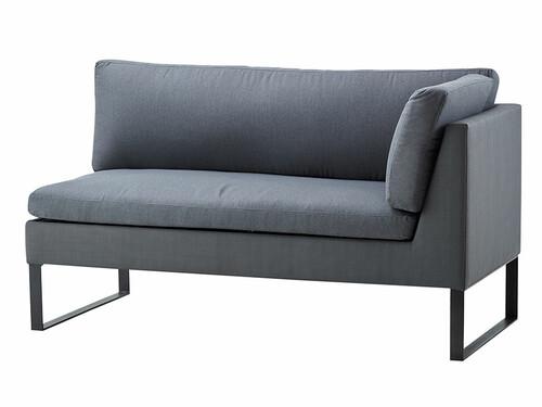 2-Sitzer Sofa Flex Armlehne rechts | grau