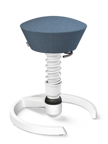 3D-Aktiv-Bürodrehstuhl Swopper Sitzbezug Capture: 85 % neuseeländische Wolle, 15 % Polyamid | weiß/taubenblau meliert