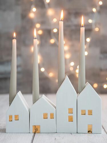Adventsleuchter Häuser