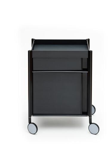 Trolley Ally 1 Ablagefach, 1 Schub, 1 Fach groß mit Tür | anthrazit