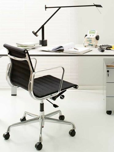 Bürodrehsessel Alu-Chair Stoff | schwarz