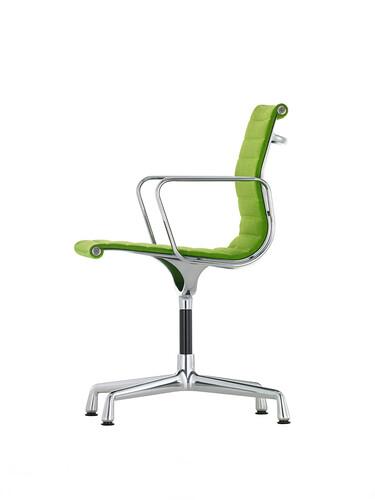 Besucherstuhl Alu-Chair Stoff, Gestell verchromt | Stoff, grün, verchromt