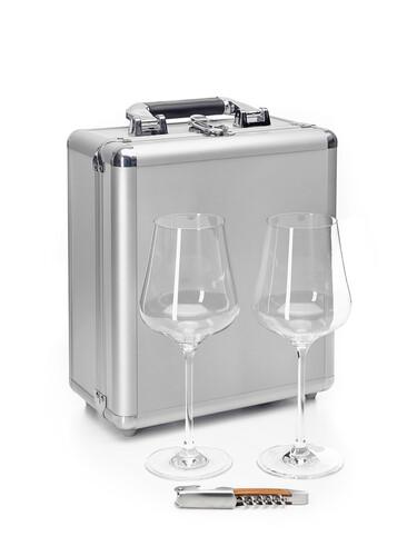 Aluminiumkoffer Zweiglas Travel Case