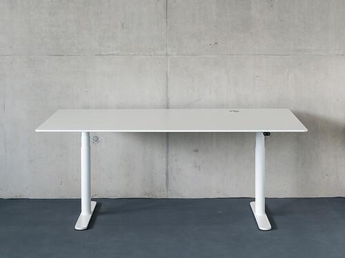 Arbeitstisch HiLow 2 160 x 80 cm | weiß
