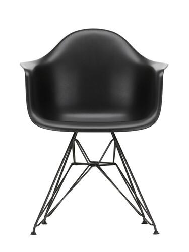 Armlehnstuhl Eames Plastic Armchair DAR schwarz beschichtet   tiefschwarz