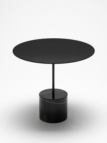 Beistelltisch Calibre H 40 cm   schwarz