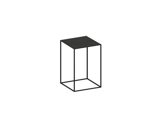 Beistelltisch Slim Irony Low Table B 31 x T 31 cm | kupferschwarz, Sandeffekt