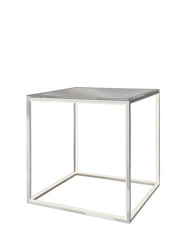 Beleuchteter Tisch Delux H 42 x B 42 x T 42 cm | silberfarben