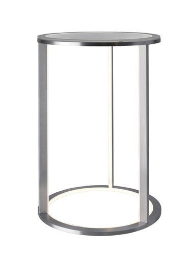 beleuchteter Tisch Mesa H 60 cm | Aluminium/Glas