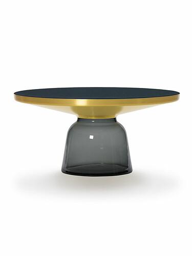 Tisch Bell Table Coffee Table, H 36 cm  | Tischfuß grau