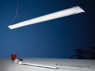 LED-Hängeleuchte Blow Me Up L 120 cm | silberfarben