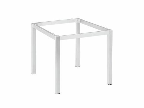 Cairo-Tischgestell 90 x 90 cm Aluminium, Weiß pulverbeschichtet