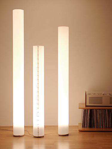 Stehleuchte Chameledeon White LED 139 cm | weiß