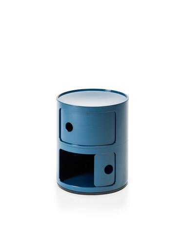 Container Componibili Ø 32 cm | 2 Fächer | blau