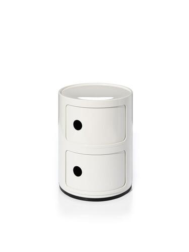 Container Componibili Ø 32 cm | 2 Fächer | weiß
