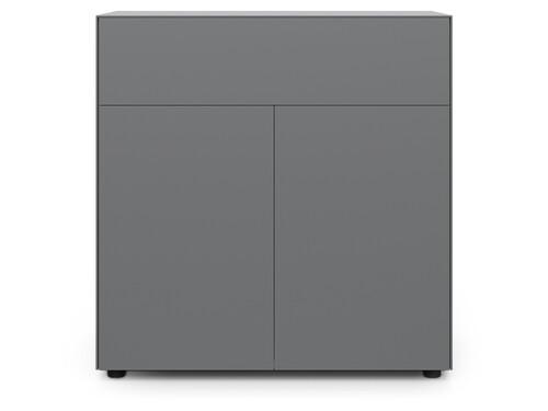 Container F10 Connect H 100 cm   2 Türen und 1 Schublade   graphit