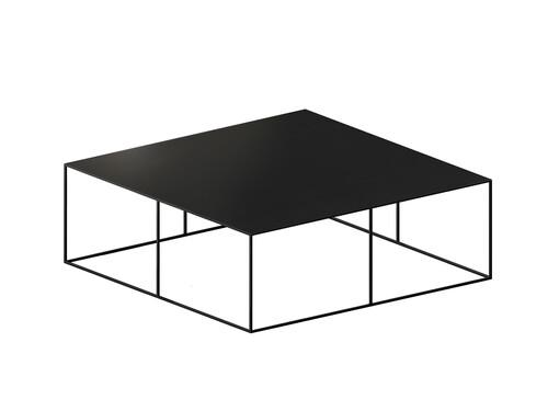 Couchtisch Slim Irony Low Table B 100 x T 100 cm   kupferschwarz, Sandeffekt