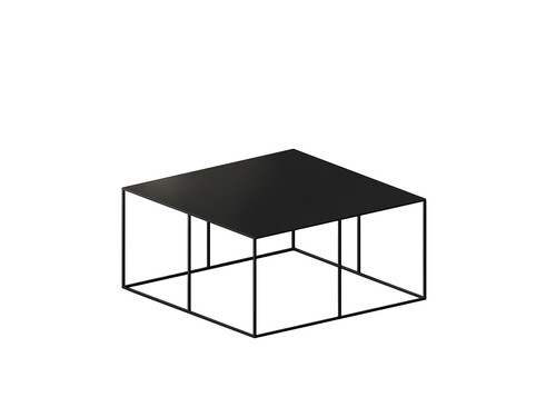 Couchtisch Slim Irony Low Table B 70 x T 70 cm | kupferschwarz, Sandeffekt