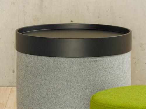 Tablett Drum, schwarz
