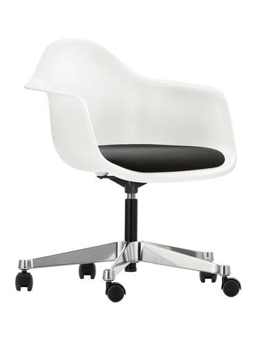 Eames Plastic Armchair PACC Drehstuhl Sitzpolster | schwarz-weiß