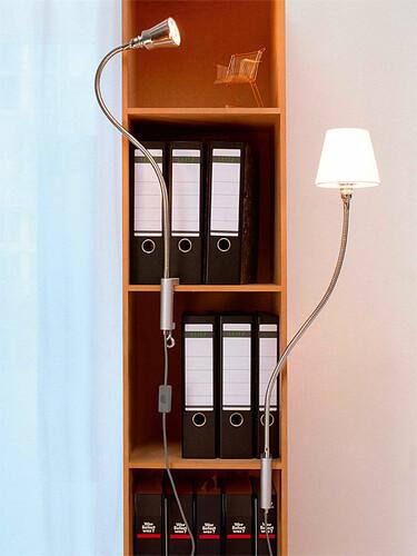 Klemmleuchte Eisenbein Alu-Kegelreflektor, glanzeloxiert | LED