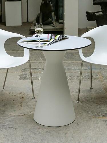 Tisch Tak Platte: rund | weiß