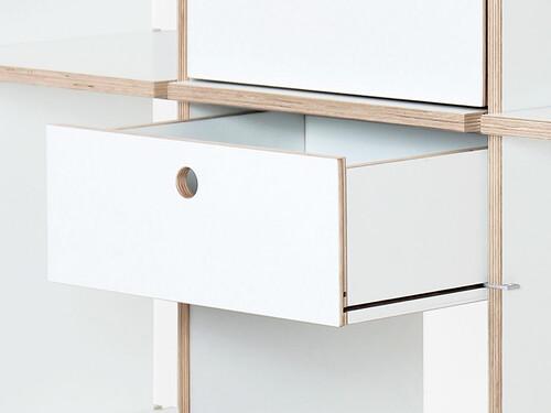 Schubbox H 13,6 cm H 13,6 cm | weiß