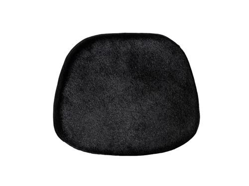 Sitzpad für Eames Plastic Side Chair Kuhfell   schwarz