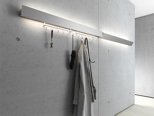 Garderobenleuchte GL 8 Wandleuchte Breite 60 cm | Aluminium